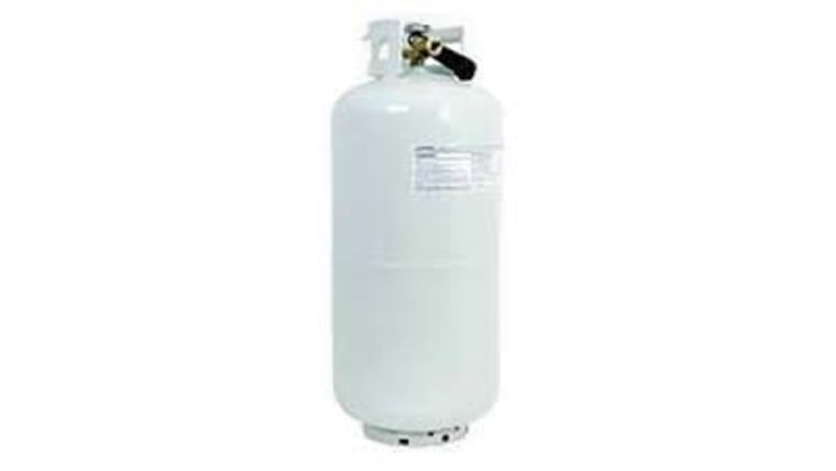 Picture of a 40lb Full Propane Tank Rental