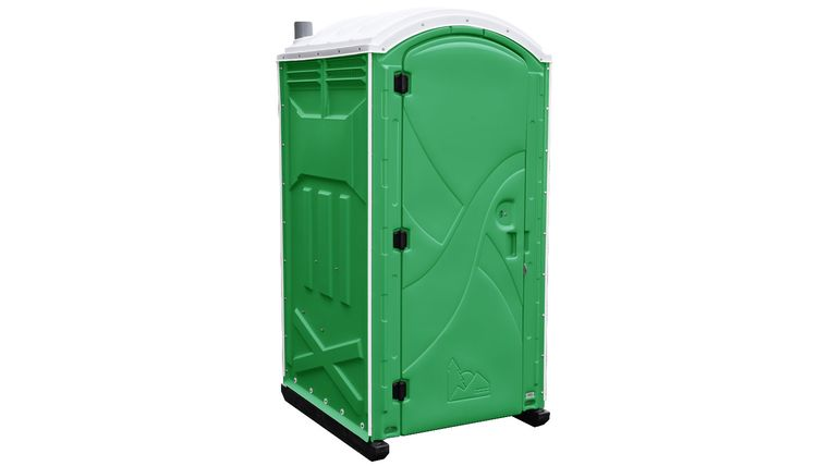 Picture of a Grass Green Axxis Ambassador Portable Restroom With In Unit Sink & Urinal Rental