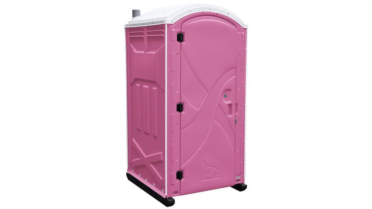 Picture of a Pink Axxis Portable Restroom Unit Rental