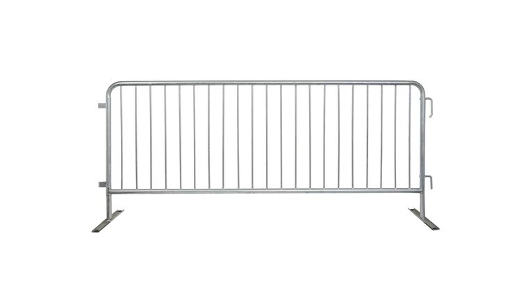 Picture of a 7.5' Steel Bicycle Rack Crowd Barricade Rental