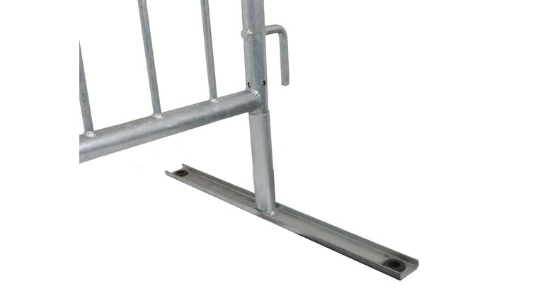 """Picture of a 1.5"""" Diameter Silver Flat Barricade Base Frame"""
