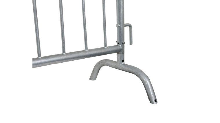 "Picture of a 1.5"" Diameter Silver Bridge Barricade Base Frame"
