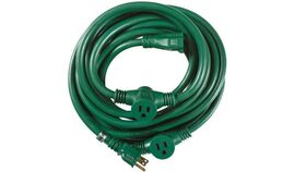 Image of a 25' Green 12/3 AC Multi Outlet Power Cable Rental