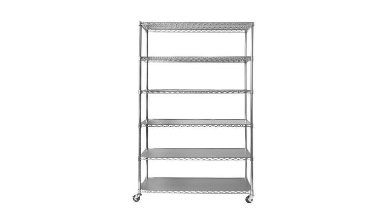 Picture of a 6 Level Chrome Commercial Storage Shelving