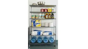 6 Level Chrome Commercial Storage Shelving image