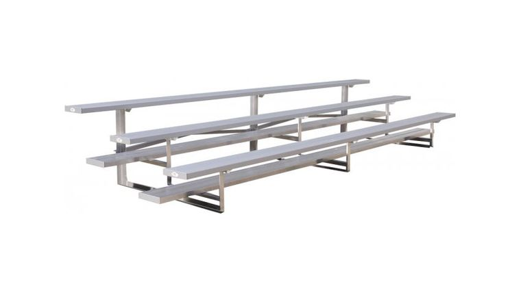 Picture of a 15' - 3 Row Tip N Roll Portable Aluminum Bleacher Rental (Seats 30*)
