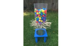 Image of a Foul Ball Giant Kerplunk Game Rental