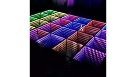 "Image of a 20"" x 20"" Illuminated Mirror Dance Floor Section Rental"