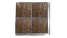 Image of a Matte Rustic Cedar Vinyl Dance Floor Section - 4' x 4'
