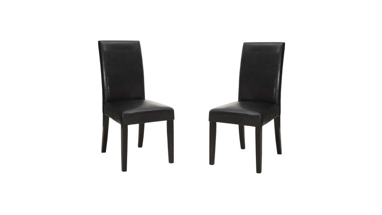 Picture of a Black Leather High Back Chair