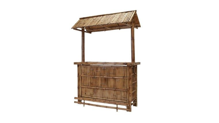 Picture of a 4' Bamboo Tiki Bar Rental