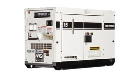 Image of a 15 kW Single Phase generator with 1.0 power factor and 120/240 volt output.