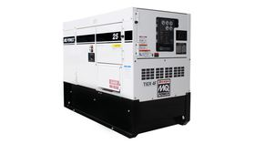 Image of a 20 kW (25 kVA) Single/Three-Phase and a standby rating of 22 kW (27.5 kVA).