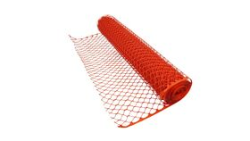 Image of a 4' x 50' Orange Mesh Snow Fence Rental