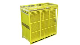 Image of a 210' Yellow Full Pallet Of Perimeter Patrol Fencing Rental