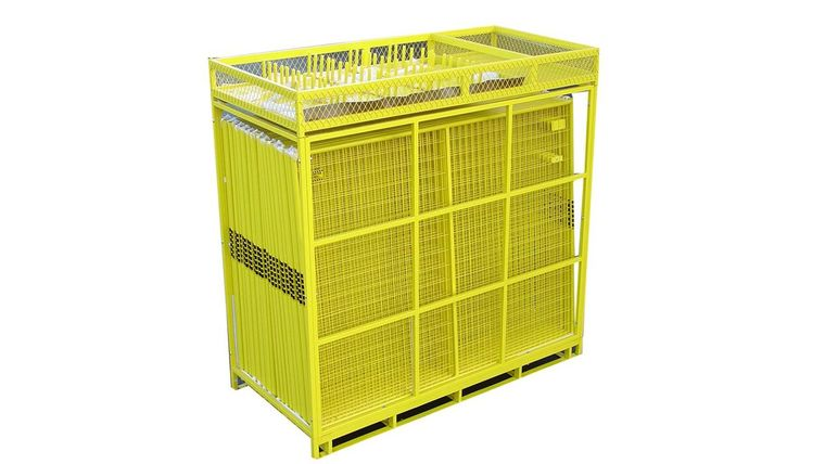Picture of a 210' Yellow Full Pallet Of Perimeter Patrol Fencing Rental