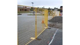 210' Yellow Full Pallet Of Perimeter Patrol Fencing Rental image