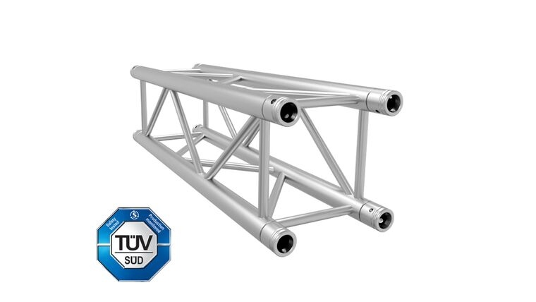 "Picture of a 12"" x 13.12' (4.0m) F34 Aluminum Box Global Truss - Silver Rental"