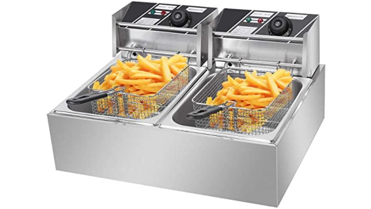 Picture of a 2 Basket Commercial Table Top Electric Deep Fryer Rental