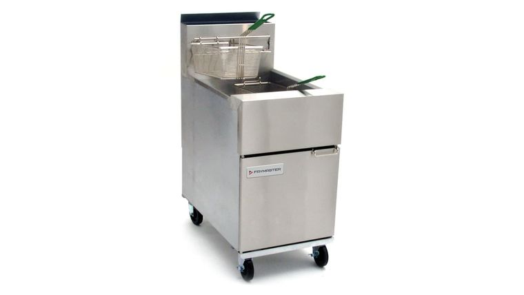 Picture of a 70-100lb Deep Fryer Propane Standing Two Basket