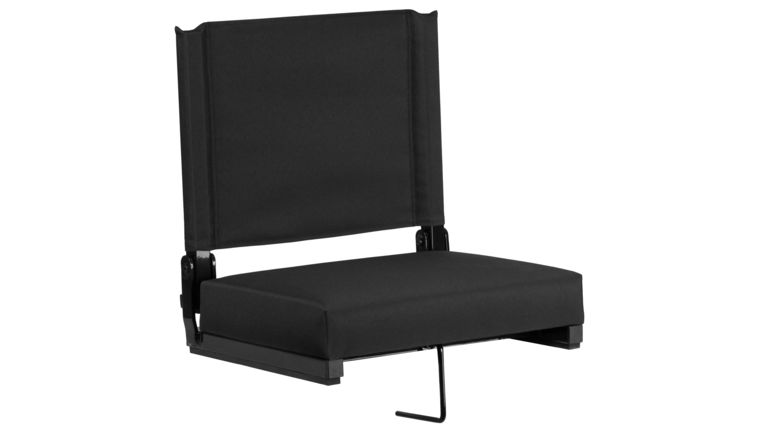 Picture of a Black Grandstand Comfort Seats by Flash with Ultra-Padded Seat in Black