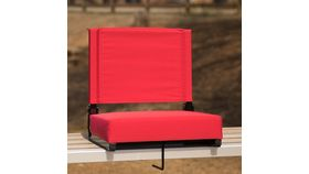 Red Grandstand Comfort Seats by Flash with Ultra-Padded Seat image