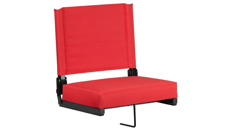 Picture of a Red Grandstand Comfort Seats by Flash with Ultra-Padded Seat
