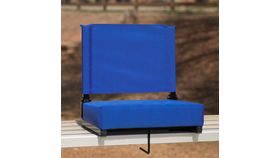 Blue Grandstand Comfort Seats by Flash with Ultra-Padded Seat image