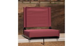 Maroon Grandstand Comfort Seats by Flash with Ultra-Padded Seat image