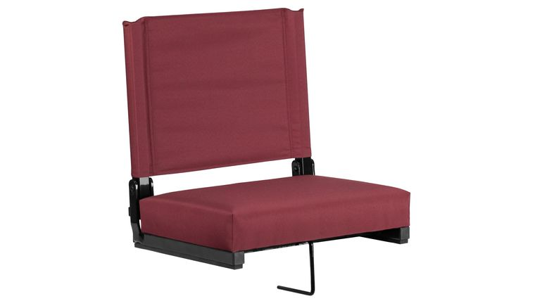Picture of a Maroon Grandstand Comfort Seats by Flash with Ultra-Padded Seat