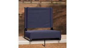 Navy Grandstand Comfort Seats by Flash with Ultra-Padded Seat image