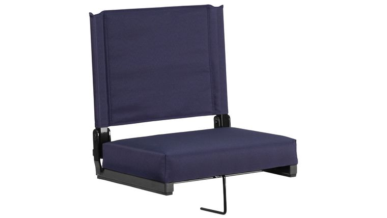 Picture of a Navy Grandstand Comfort Seats by Flash with Ultra-Padded Seat