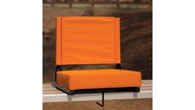 Orange Grandstand Comfort Seats by Flash with Ultra-Padded Seat image