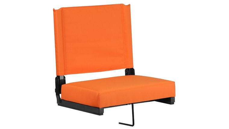 Picture of a Orange Grandstand Comfort Seats by Flash with Ultra-Padded Seat