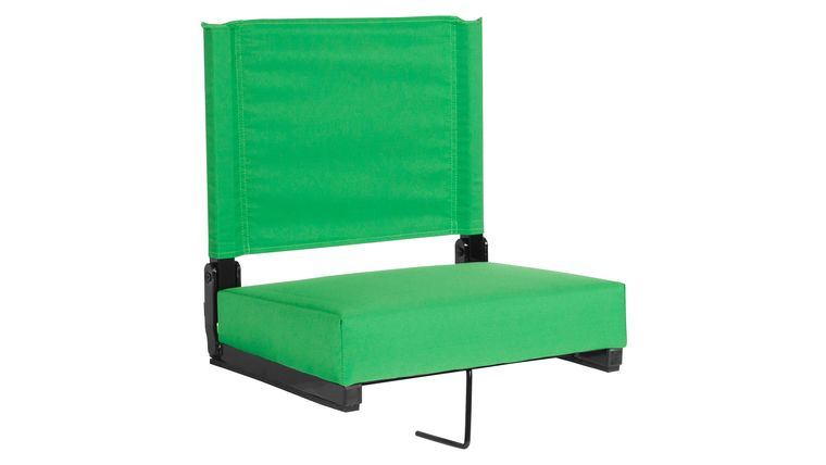 Picture of a Bright Green Grandstand Comfort Seats by Flash with Ultra-Padded Seat
