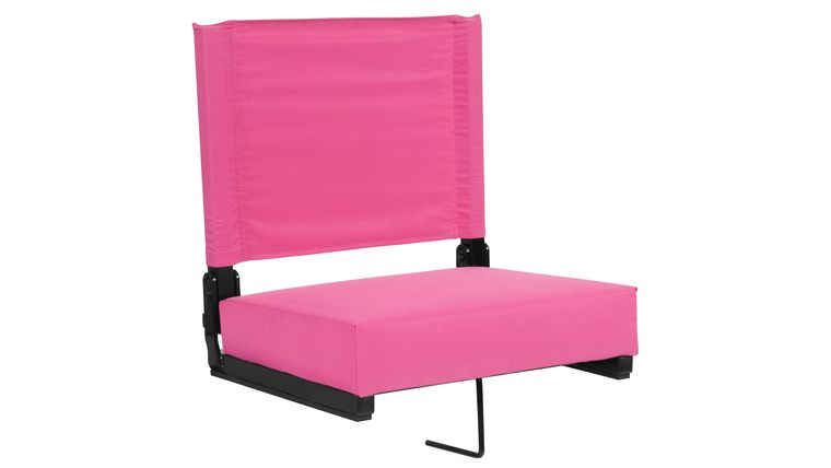Picture of a Pink Grandstand Comfort Seats by Flash with Ultra-Padded Seat