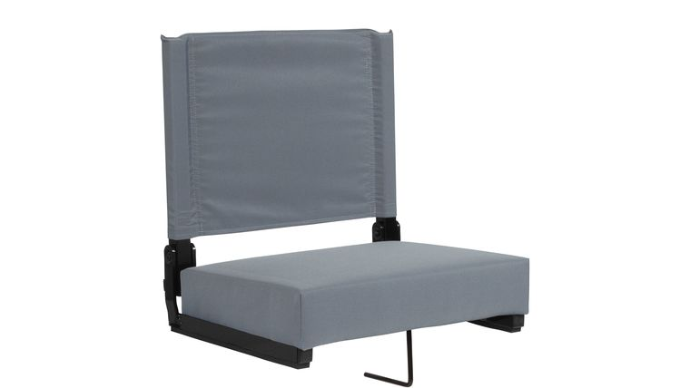 Picture of a Grey Grandstand Comfort Seats by Flash with Ultra-Padded Seat