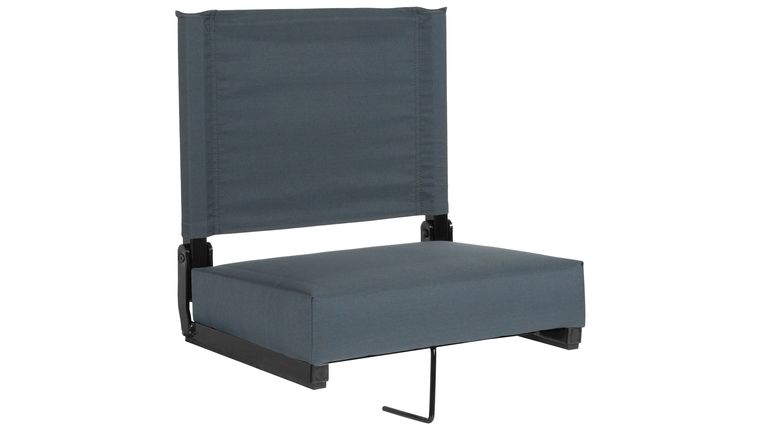 Picture of a Dark Blue Grandstand Comfort Seats by Flash with Ultra-Padded Seat