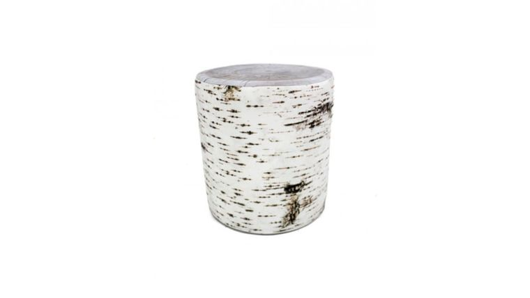 Picture of a Birch Bark Effect Soft Stool