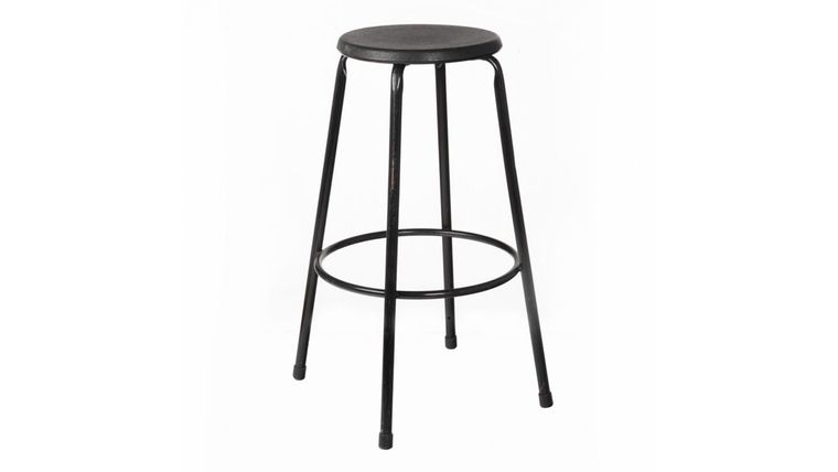 Picture of a Black Metal Stool