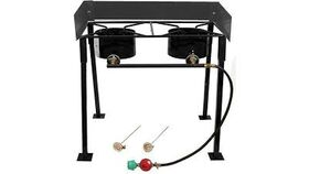 Image of a 2 Burner Propane Outdoor Stove Red Snapper