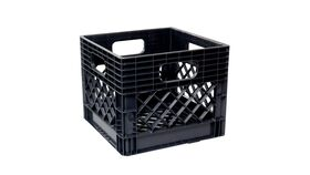 "Image of a 11"" x 13"" x 13"" Black Plastic Milk Crate"