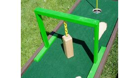 Image of a Mini Golf Swinging Block Game Obstacle