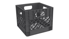 "Image of a 11"" x 13"" x 13"" Graphite Plastic Milk Crate"