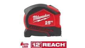 Image of a 25' Milwaukee Auto Lock Tape Measure