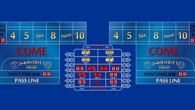 Image of a 12' Blue Craps Casino Game Table Kit