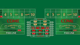 Image of a 12' Green Craps Casino Game Table Only