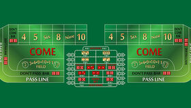 Image of a 10' Green Craps Casino Game Table Only