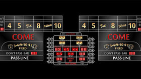 Image of a 12' Black Craps Casino Game Table Only