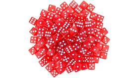 Image of a 19mm Red Rounded Casino Dice